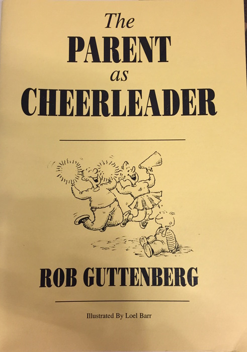 Large parent as a cheerleader cover